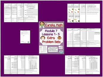 2nd Grade Eureka Math Module 7 Topic A Lessons 1-7 Extra Problem Sets