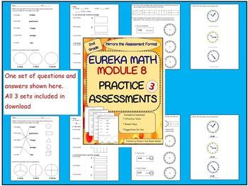 2nd Grade Eureka Math Module 8 End of Unit Practice Assessments 3 Practice Tests