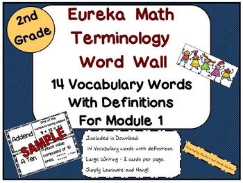 2nd Grade Eureka Math Terminology Word Wall with Definitio