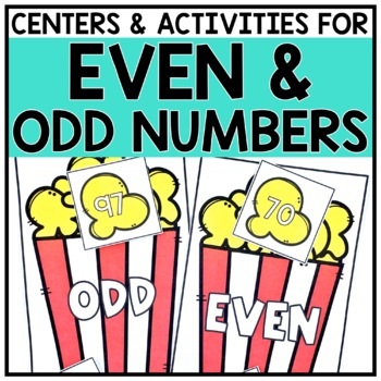 2nd Grade Even & Odd Math Centers for 2.OA.3