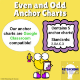2nd Grade Even and Odd Anchor Charts 2.OA.3 (Distance Learning)