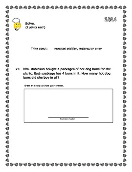 2nd Grade - Unit 6 Everyday Math - Test