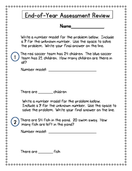 2nd Grade Everyday Math (EDM4) End-of-Year Assessment Review