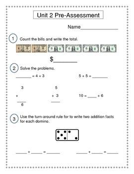 2nd Grade Everyday Math (EDM4) Unit 2 Pre-Assessment
