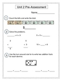 2nd Grade Everyday Math (EDM4) Unit 2 Pre-Assessment