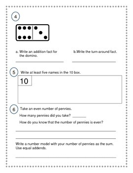 2nd Grade Everyday Math (EDM4) Unit 2 Review