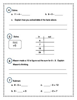 2nd Grade Everyday Math (EDM4) Unit 3 Review