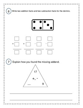2nd Grade Everyday Math (EDM4) Unit 3 Pre-Assessment