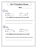2nd Grade Everyday Math (EDM4) Unit 4 Cumulative Review
