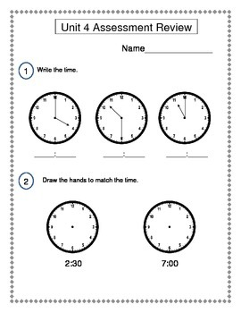 2nd Grade Everyday Math (EDM4) Unit 4 Review