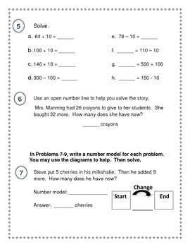 2nd Grade Everyday Math (EDM4) Unit 5 Review
