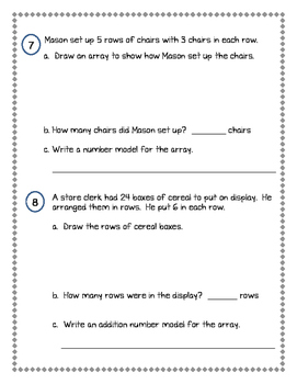 2nd Grade Everyday Math (EDM4) Unit 8 Review