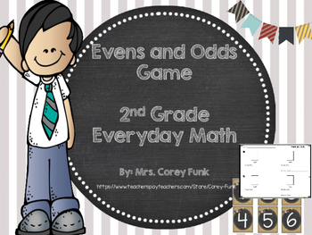 2nd Grade Everyday Math Evens and Odds Game