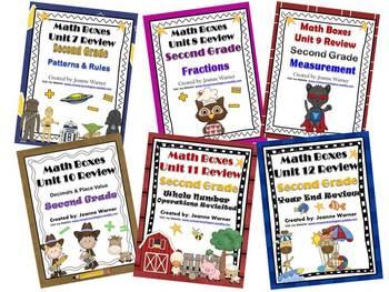 2nd Grade Everyday Math Semester Reviews ~ Units 7 -12