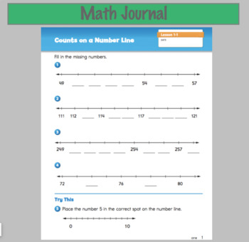 2nd Grade Everyday Math Smart Notebook Lessons Unit 1