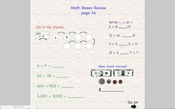 Everyday Math 2nd Grade SmartBoard Lessons Unit 3