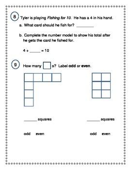 2nd Grade Everyday Math (EDM4) Unit 1 Review