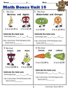 2nd Grade Everyday Math ~ Unit 10 Decimals & Place Value