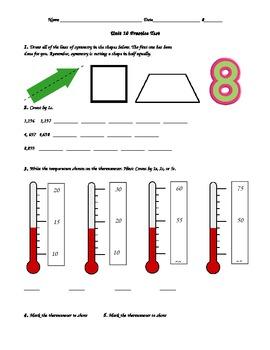 2nd Grade, Everyday Math, Unit 10 Practice Test