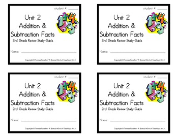 2nd Grade Everyday Math: Unit 2 Addition &Subtraction Facts Review Study Guide