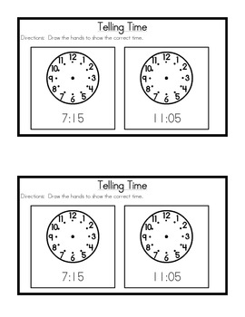 2nd Grade Everyday Math: Unit 3 Review Study Guide- Place Value, Money & Time