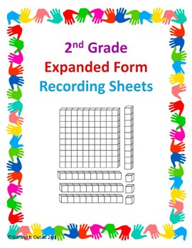 2nd Grade Expanded Form Recording Sheet