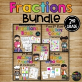 Fractions Activities SET with Book, Games, Whole Group & Center Activities, 2nd