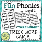 2nd Grade FUNDATIONS Level 2 Take Home Trick Word Cards