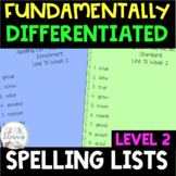 2nd Grade FUNDATIONally Differentiated Spelling Lists - Full Year