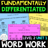 2nd Grade FUNdamentally Differentiated Word Work Activities - Level 2, UNIT 1