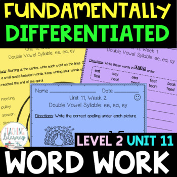 2nd Grade FUNDATIONally Differentiated Word Work Activities - Level 2, UNIT 11