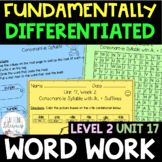 2nd Grade FUNdamentally Differentiated Word Work Activitie