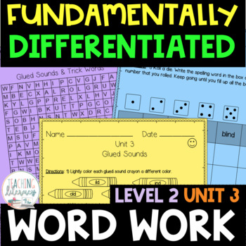 2nd Grade FUNdamentally Differentiated Word Work Activities - Level 2, UNIT 3
