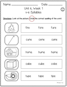 2nd Grade FUNdamentally Differentiated Word Work Activities - Level 2, UNIT 6