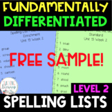 2nd Grade FUNdamentally Differentiated Spelling Lists w/Ac