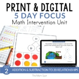 2nd Grade Fact Families Math Unit | Print & Digital for Di