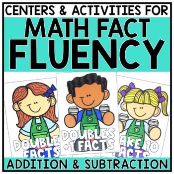 2nd Grade Addition & Subtraction Fact Fluency Math Centers for 2.OA.2