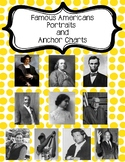 2nd Grade Famous Americans Portraits & Anchor Charts-Posters-Bulletin Board