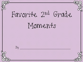 2nd Grade Favorite Moments Book {An End of Year Writing Activity}