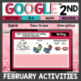 2nd Grade February Distance Learning Activities for Google