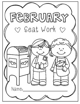 2nd Grade February Morning Seat Work- FREEBIE