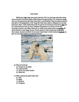 2nd Grade Fiction + Nonfiction Reading Comprehension Packet (Common Core )