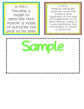 2nd Grade File Folder Stickers for Next Generation Science Standards