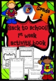 2nd Grade - First Week of School Activity Book
