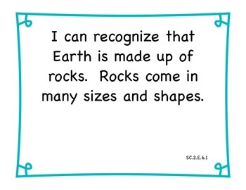 2nd Grade Florida Science I Can Statements