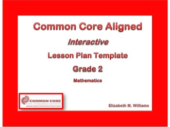 2nd Grade Florida Standards Aligned Interactive Lesson Plan Templates