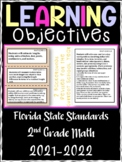 2nd Grade Florida Standards MATH Learning Objective Cards