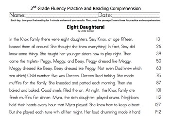 2nd Grade Fluency & Comprehension Set- Houghton Mifflin by Janet Dickey