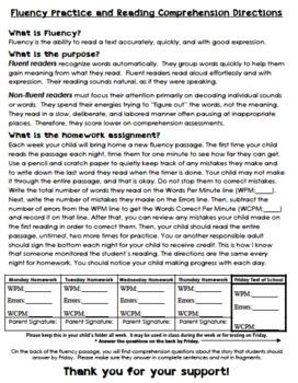 2nd Grade Fluency & Comprehension Unit 5 - WONDERS