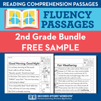 2nd Grade Fluency Homework Sampler (FREE)
